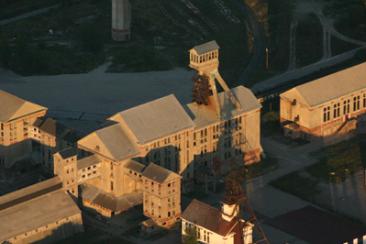 Les bâtiments du carreau minier de potasse Rodolphe