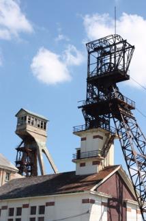 Les deux chevalements de la mine Rodolphe