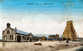 Tour de sondage et premier bâtiment de la concession minière Alex (Feldkirch dépt.68)