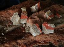 Morceaux de minerai de potasse d'Alsace