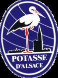 La cigogne, dessinée par Hansi avec en arrière plan la cathédrale de Strasbourg est le premier logo des MDPA.
